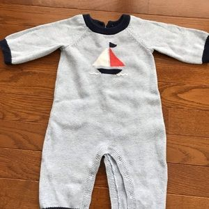 Baby boy Sailboat Janie & Jack Romper